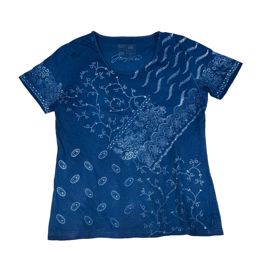 Original Indigo Blaudruck T-Shirt